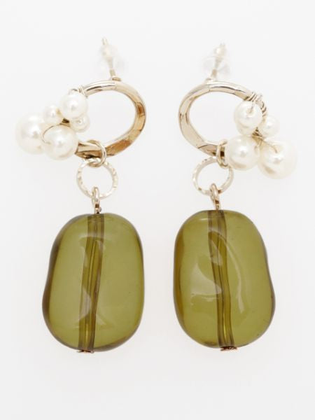 Boucles d'oreilles Antique Feel Beads-Ametsuchi
