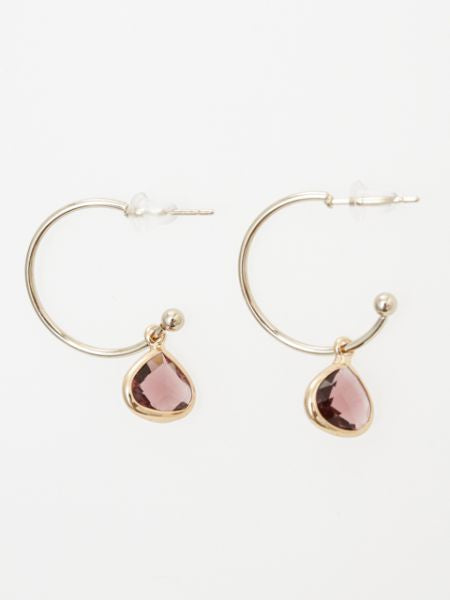 Cut Beads Hoop Earrings-Ametsuchi