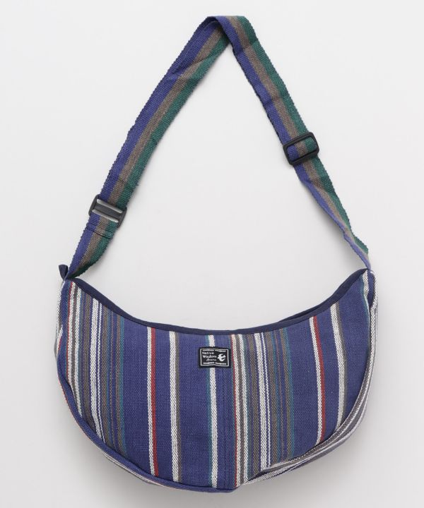 Hand Woven Cotton Crescent Shoulder Bag-Ametsuchi