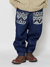 Patchwork Denim Work Pants-Ametsuchi