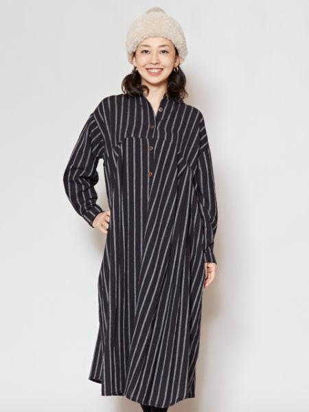 Nepalese Cotton Stripe Shirt Dress