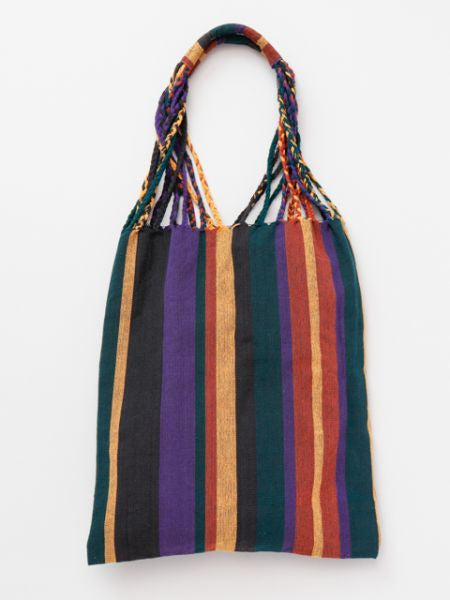 Nepalese Hand Woven Stripe Tote Bag