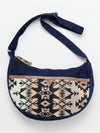 Denim x Hand Woven Jacquard Shoulder Bag