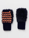 Knit x Fur Half Gloves