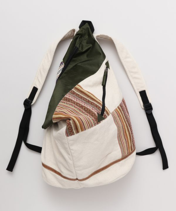 Nepalese Cotton Patchwork Backpack-Ametsuchi