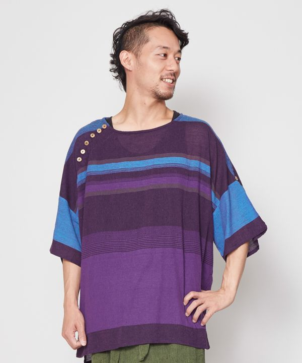 Nepalese Cotton Men's Slouchy Top-Tops-yul- Ametsuchi