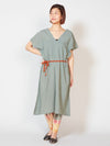 V-neck Thai Cotton Kaftan Dress-Ametsuchi