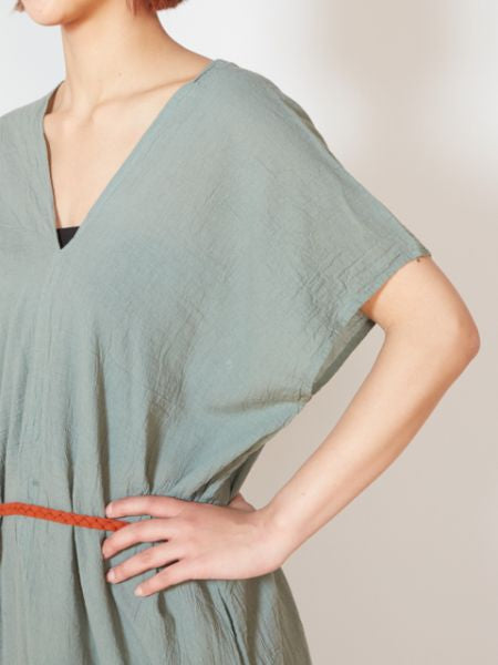 V-neck Thai Cotton Kaftan Dress