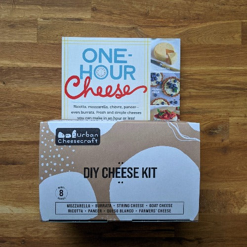Bundle - One Hour Cheese Book and Deluxe Cheese Kit