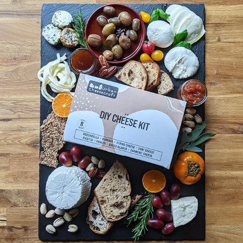 Deluxe Cheese Kit - Makes 8 Fresh Cheeses (cow/goat milk)
