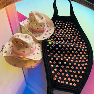 Old Town Road Pink Rhinestone Cowgirl Hat
