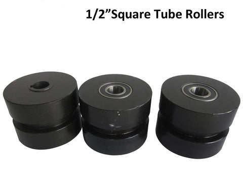 "1/2"" Square Tubing Roller Dies, Compatible With Kaka Industrial Tube Roller TR60"