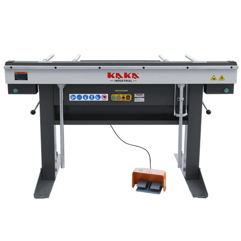 "KAKA Industrial EB-6116 Manual Magnetic Sheet Metal Box and Pan Brake, 60"" Length ,1-Phase 220V, 16-Gauge Mild Steel Capacity"
