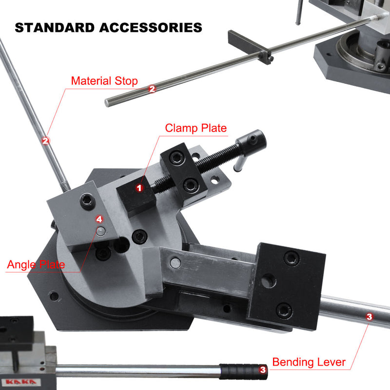 KAKA  SBG-40 Heavy-Duty Universal Bender, Flat, Square & Round Bar Metal Bender