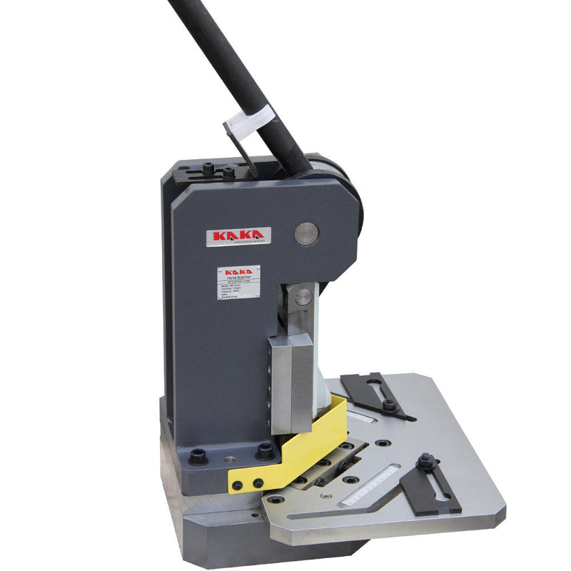 "KAKA Industrial Heavy-Duty Metal Corner Notcher, 4x4"" Blade,11-Ga Mild Steel"