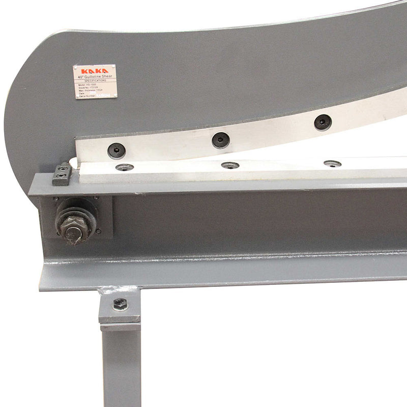 "Guillotine Shear HS-40  40"" Bed Width Hand Lever Sheet Metal Shear"