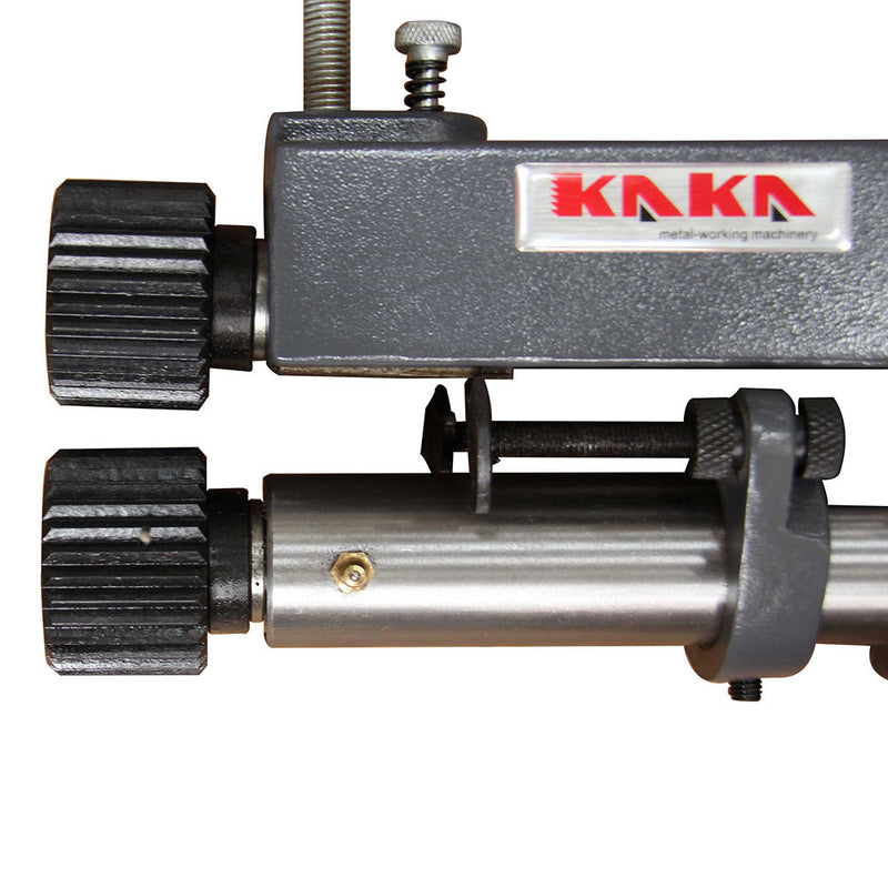 KAKA Industrial RM-08 177mm Throat Cast-Iron Bead Roller, 0.8mm Rotary Former