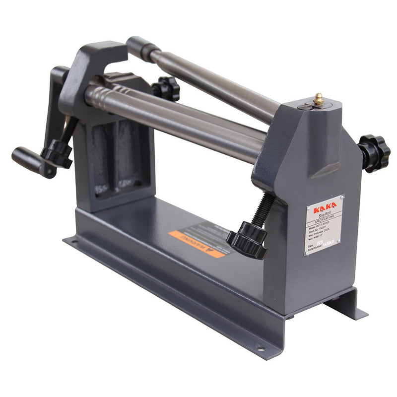 KAKA W01-0.8X305 ,12-In Slip Roll Machine, 22 Gauge, Solid Sheet Metal Slip Roll Machine