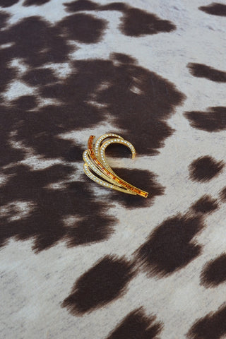 Golden Fern Brooch