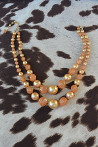 Peach Pearlette Necklace