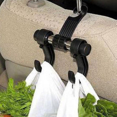 Black Automotive Car Back Seat Hooks for Grocery Shopping