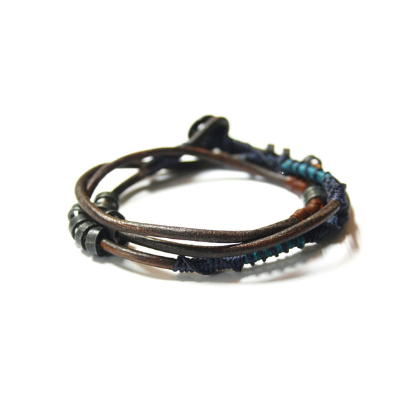 Water Leather Wrap Bracelet