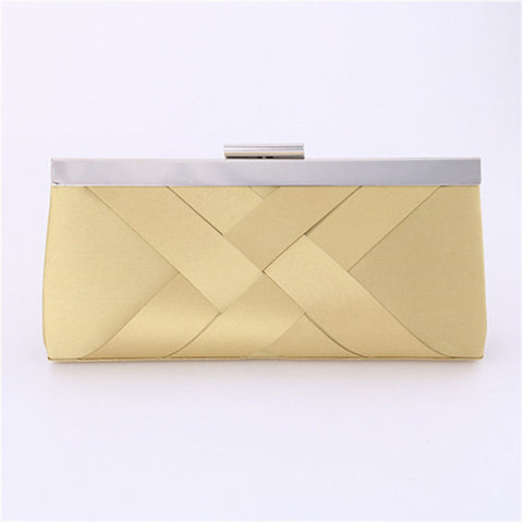 Yana satin clutch bag