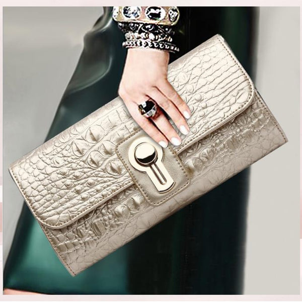 Gilda genuine leather clutch