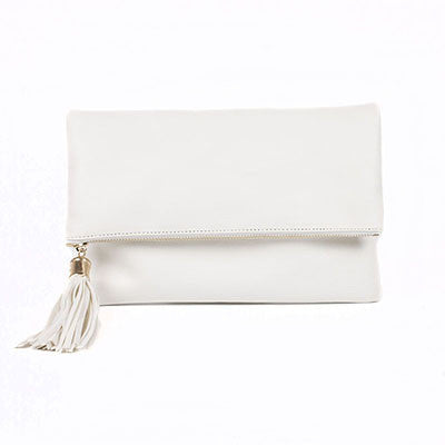 Zdena PU leather clutch bag