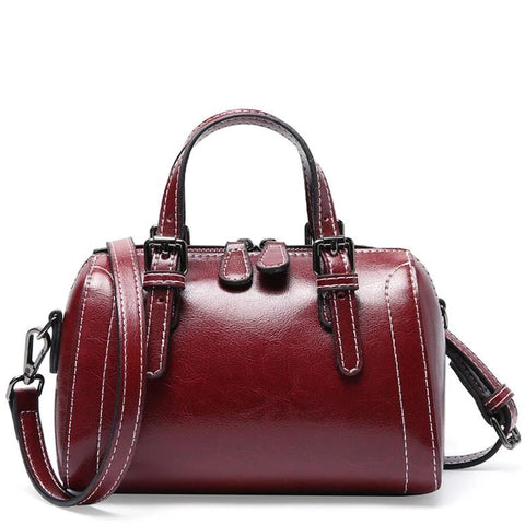 Alba genuine leather cross-body handbag