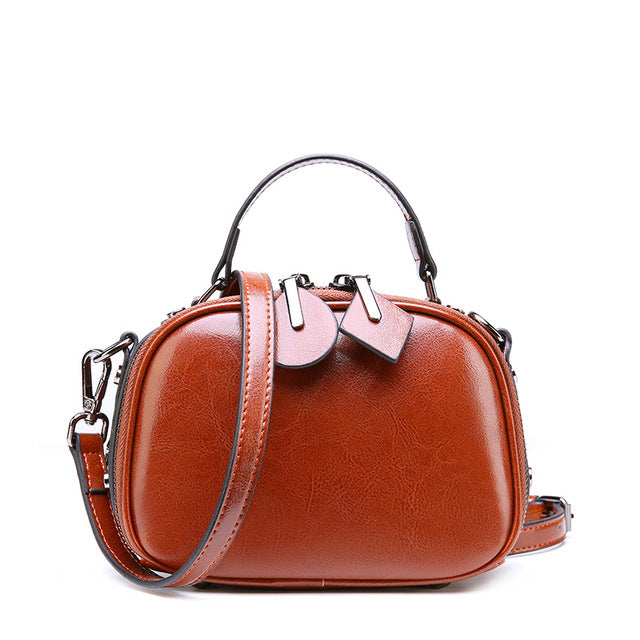 Iria genuine leather cross-body handbag