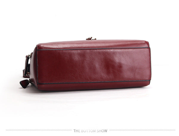 Helka genuine leather cross-body handbag