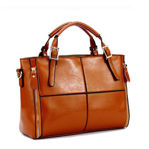Daphne split leather tote bag