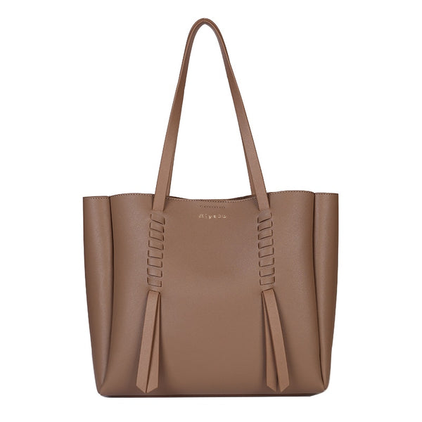 Carlie PU leather bucket handbag