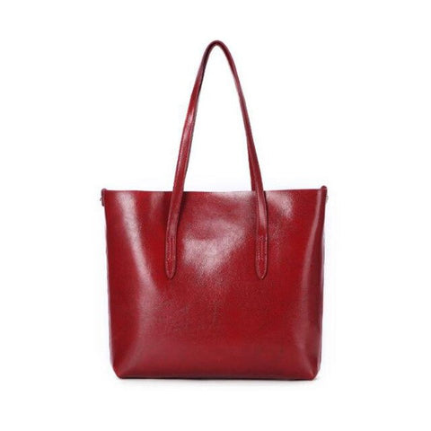 Agata genuine leather bucket handbag