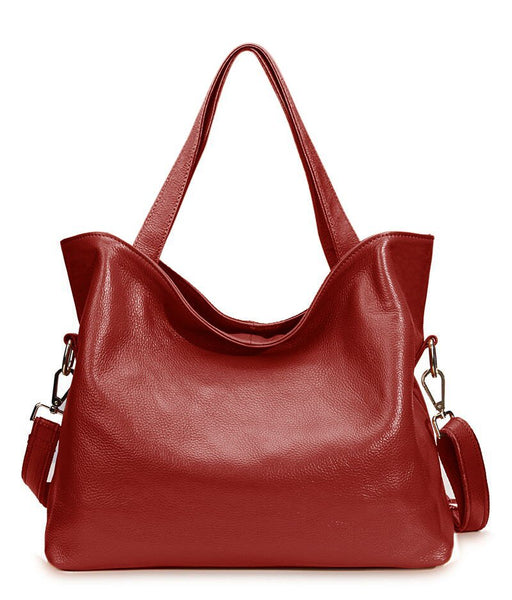 Weronika genuine leather bucket handbag