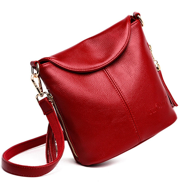 Neve genuine leather bucket handbag