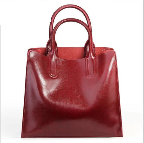 Gloria split leather bucket handbag