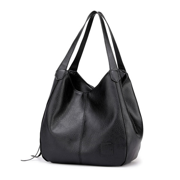 Akachi PU leather hobo handbag