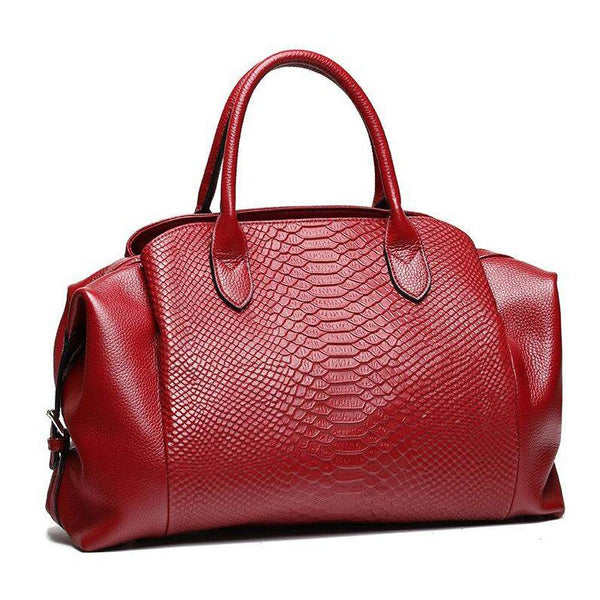 Aiman genuine leather tote handbag