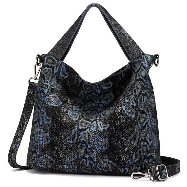 Rain genuine leather tote handbag