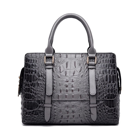 Irina split leather satchel handbag