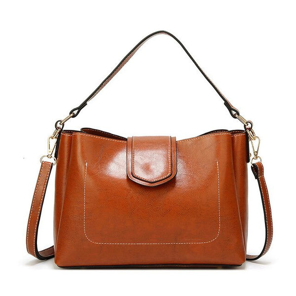 Themis PU leather satchel handbag