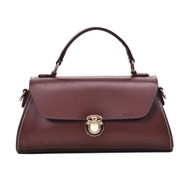Saskia PU leather satchel handbag