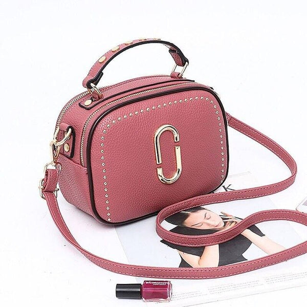 Ottilie PU leather satchel handbag