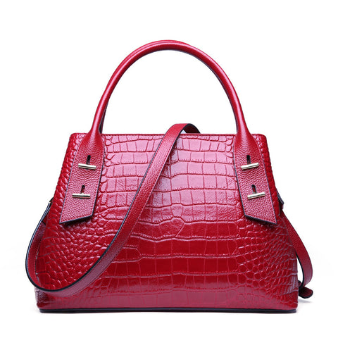 Heike genuine leather alligator pattern satchel handbag