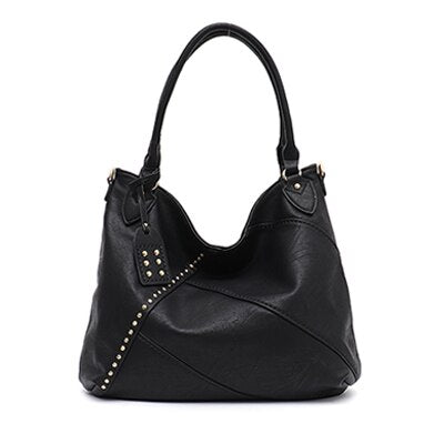 Henda PU leather hobo handbag