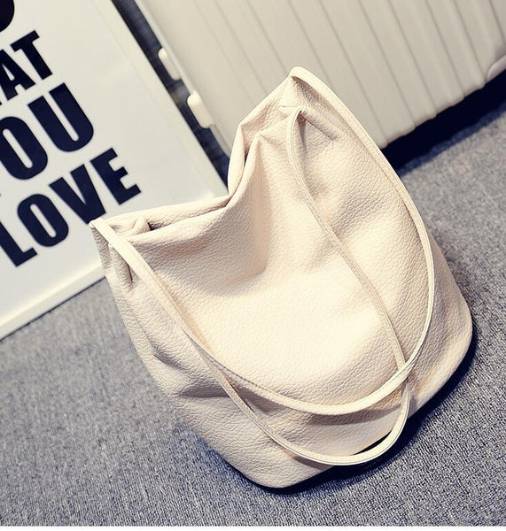Basma PU leather bucket bag