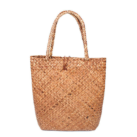 Yannic straw tote bag