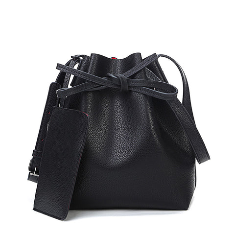 Kaja PU leather bucket bag